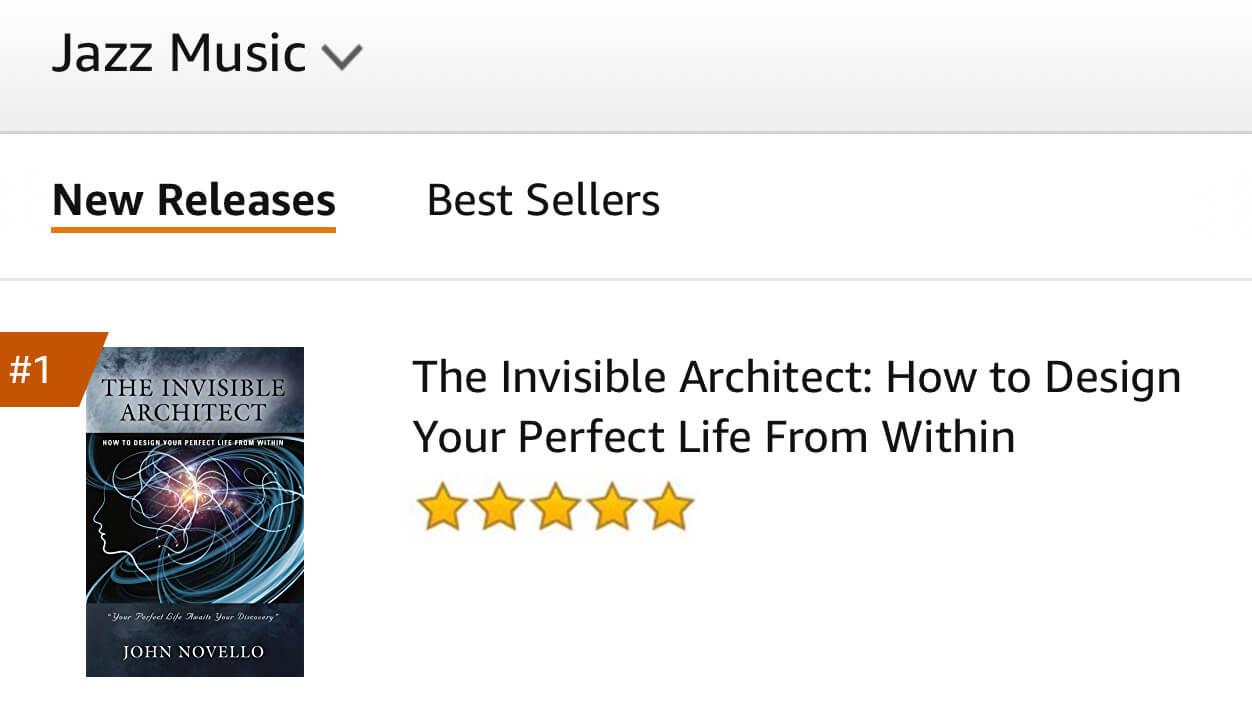 Amazon best seller, jazz musicians, screenshot